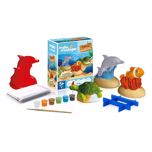 Coffret moulages en plâtre - Cap sur la mer - 3 moules - Photo n°2