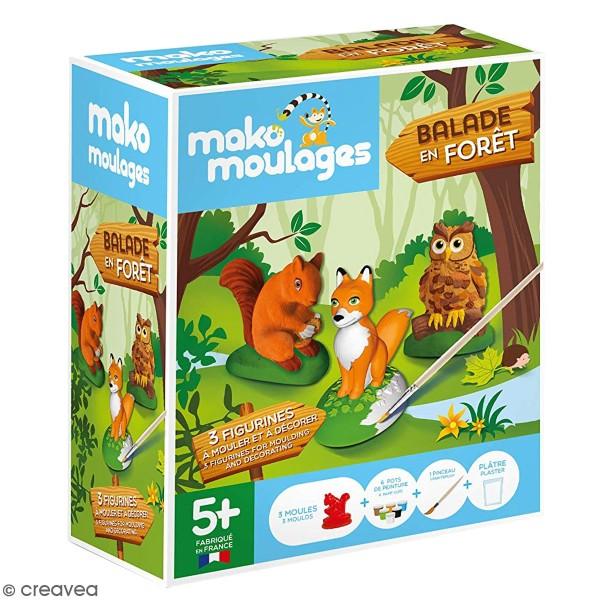 Coffret moulages en plâtre - Balade en forêt - 3 moules - Photo n°1