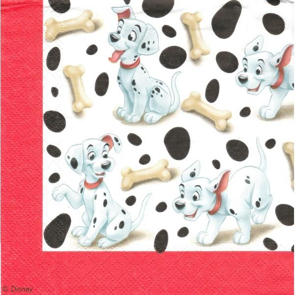 4 Serviettes en papier Dalmatiens Format Lunch Decoupage Decopatch 4012045 Decorata - Photo n°1