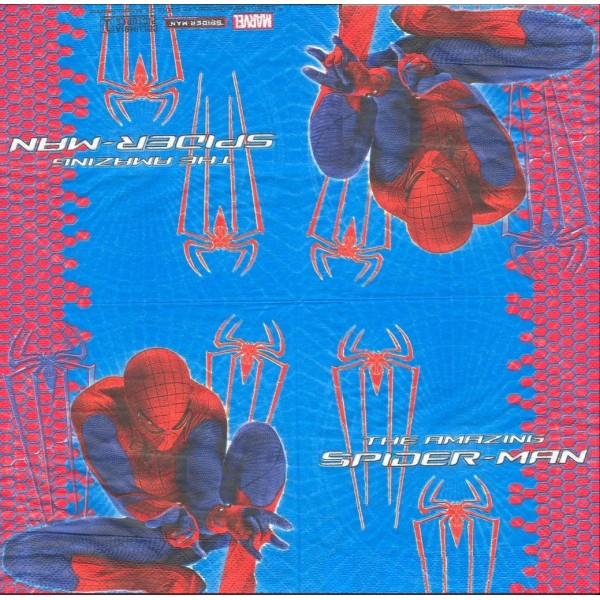 4 Serviettes en papier Spiderman Format Lunch Decoupage Decopatch 2030132 Decorata - Photo n°2