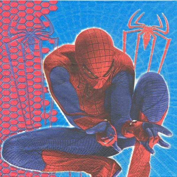 4 Serviettes en papier Spiderman Format Lunch Decoupage Decopatch 2030132 Decorata - Photo n°1
