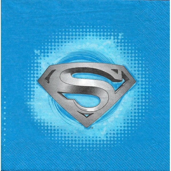 4 Serviettes en papier Superman Format Lunch Decoupage Decopatch X2-07-054 Decorata - Photo n°2