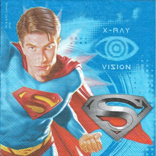 4 Serviettes en papier Superman Format Lunch Decoupage Decopatch X2-07-054 Decorata - Photo n°1