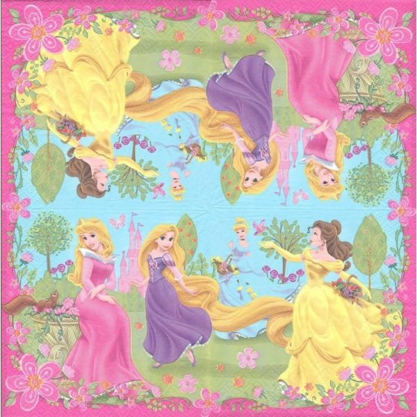 4 Serviettes en papier Princesses Format Lunch Decoupage Decopatch 2121301 Decorata - Photo n°2