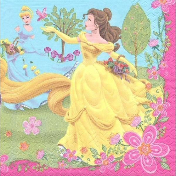 4 Serviettes en papier Princesses Format Lunch Decoupage Decopatch 2121301 Decorata - Photo n°1