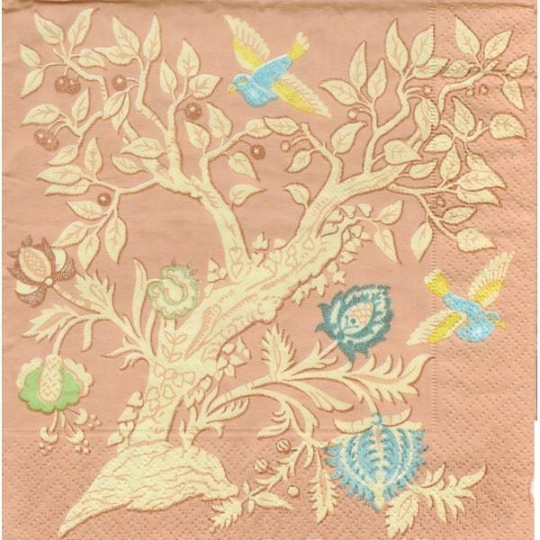 4 Serviettes en papier Asie Colibri abricot Format Lunch Decoupage Decopatch 10997757 SusyCard - Photo n°1