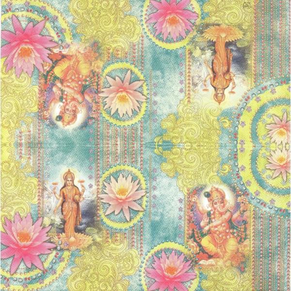 4 Serviettes en papier Bollywood Cinéma Indï Inde Bombay Format Lunch LU151225  Sweet Pac - Photo n°2