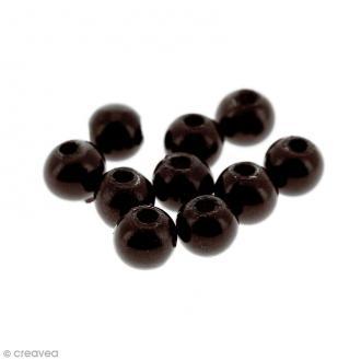Perles magiques Marron foncé - 4 mm - 10 pcs
