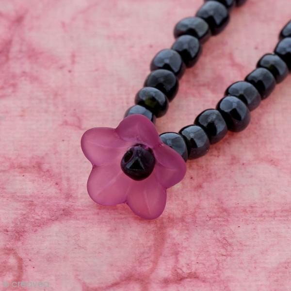 Breloque effet givré - Coupelle fleur Rose transparent - Photo n°3