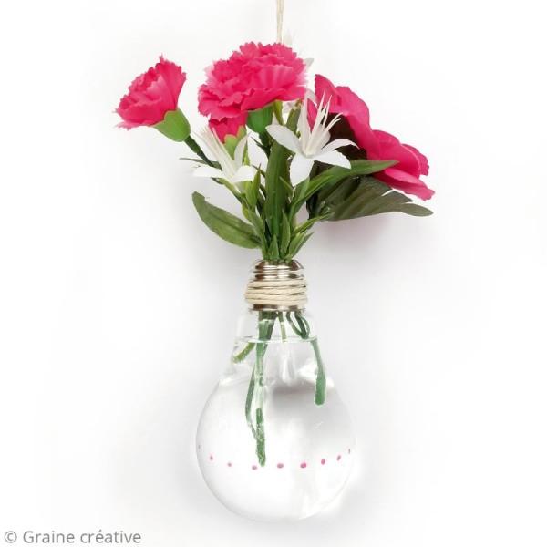 Vase ampoule en verre - 12 cm - Photo n°2