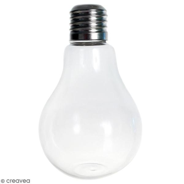Vase ampoule en verre - 12 cm - Photo n°1