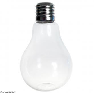Vase ampoule en verre - 12 cm