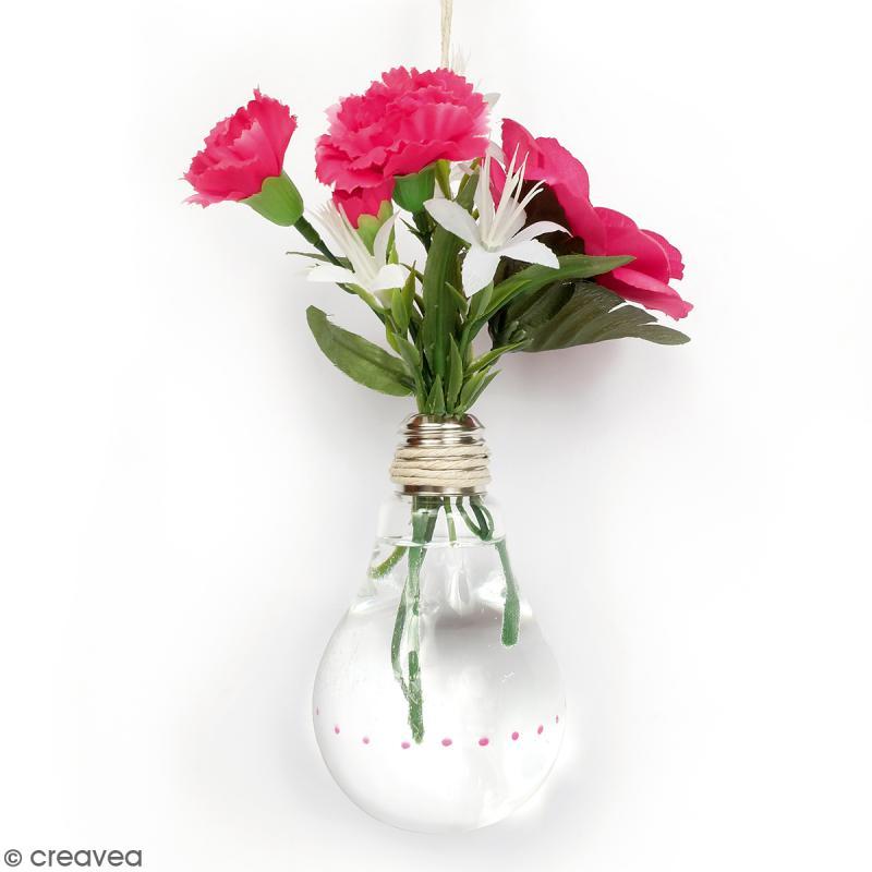 Vase ampoule en verre - 22 cm - Photo n°2