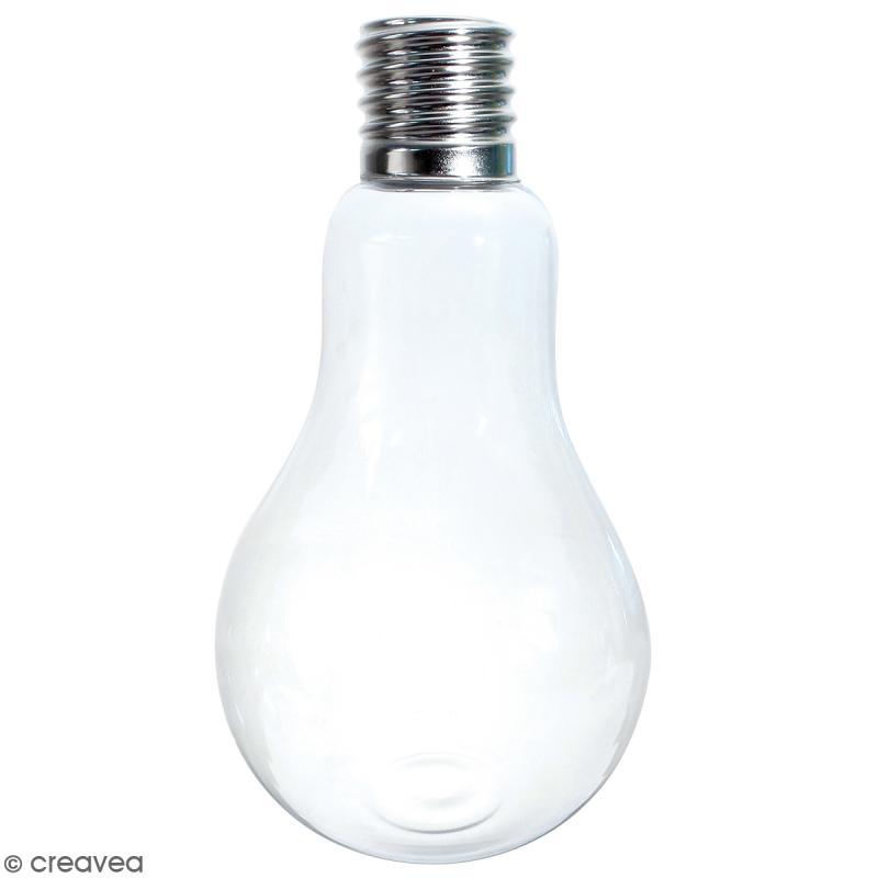 Vase ampoule en verre - 22 cm - Photo n°1