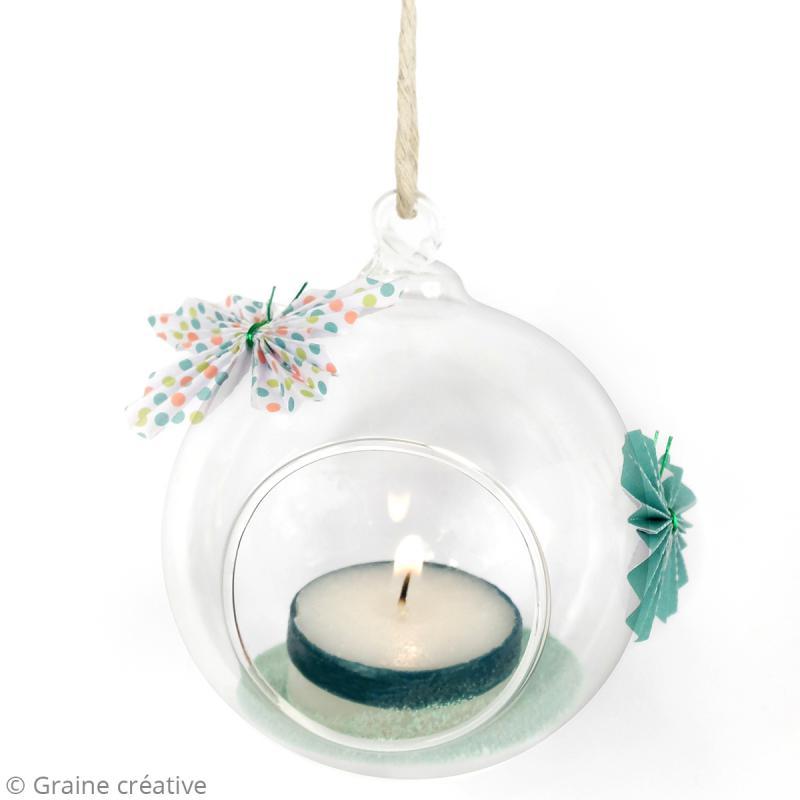 Boule en verre ouverte à suspendre - 8 cm - Photo n°2