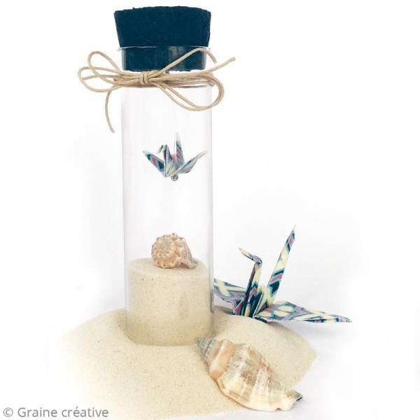 Mini flacon en verre - Tube 6,5 cm avec bouchon en liège - Photo n°2