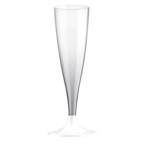 20 Flûtes champagne pied blanc - Photo n°1