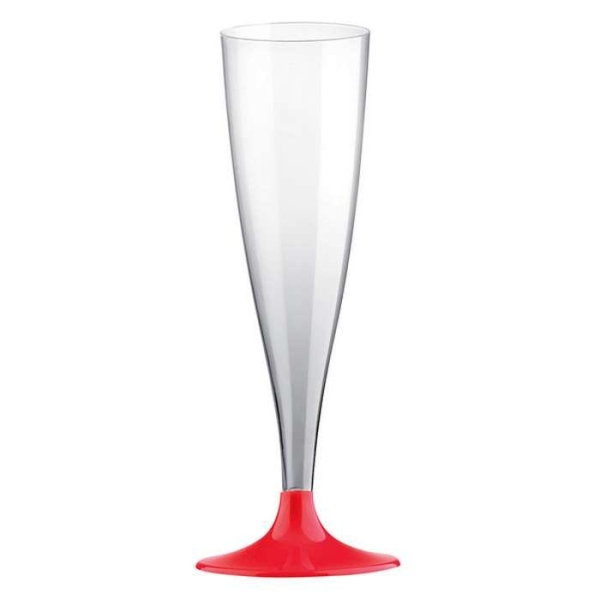 20 Flutes champagne pied rouge - Photo n°1