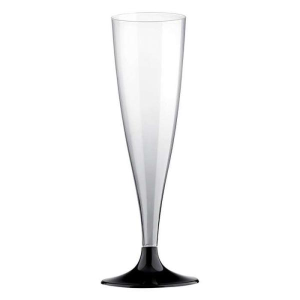 20 Flûtes champagne pied noir - Photo n°1
