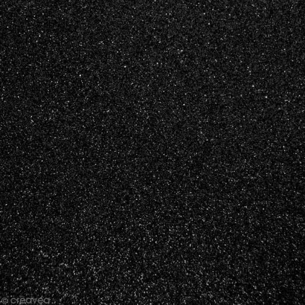Tissu pailleté Noir - 66 x 45 cm - Photo n°1