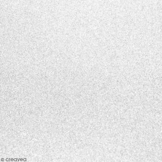 Tissu pailleté Blanc - 70 x 45 cm