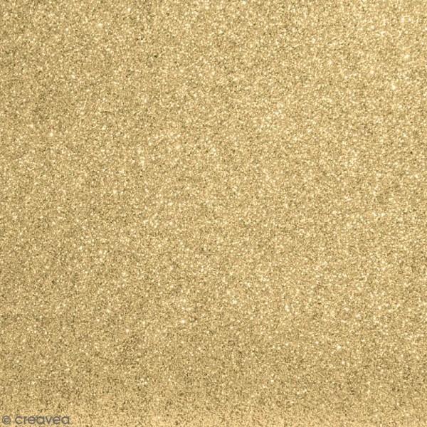 Tissu pailleté Jaune doré - 66 x 45 cm - Photo n°1