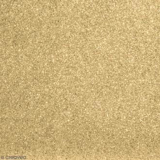 Tissu pailleté Jaune doré - 66 x 45 cm