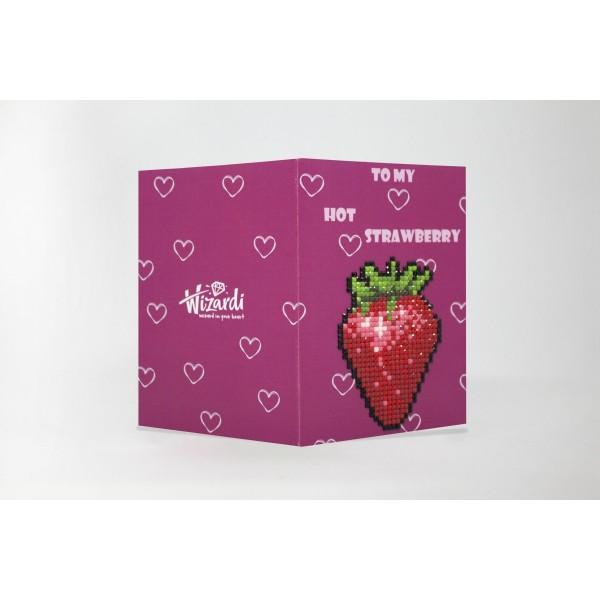 Broderie Diamant Kit- à ma fraise chaude  WC0124 - Photo n°1