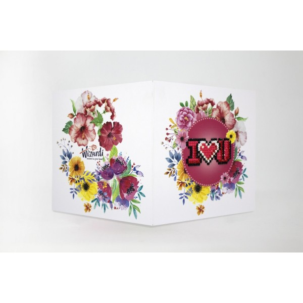 Broderie Diamant Kit- Je t'aime WC0157 - Photo n°1