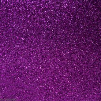 Tissu pailleté Violet - 70 x 45 cm
