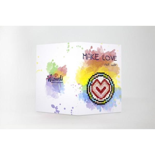 Broderie Diamant Kit- Faites l'amour pas la guerre WC0205 - Photo n°1