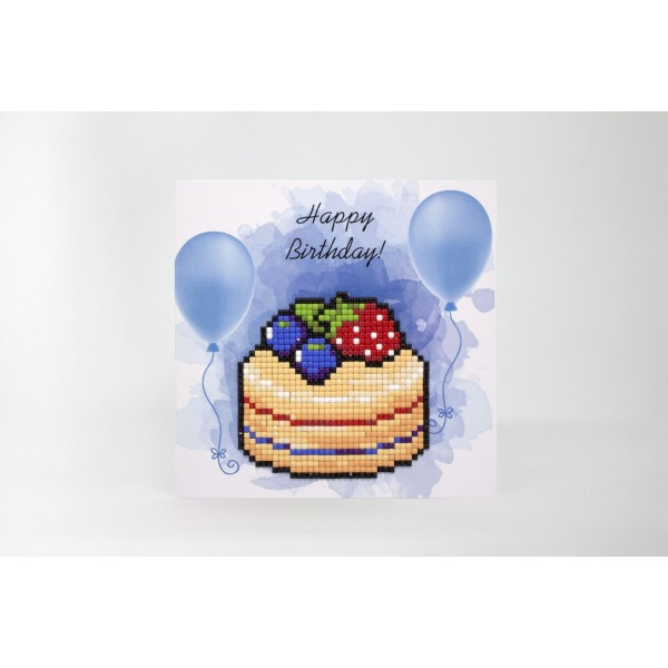 Broderie Diamant Kit- Bon anniversaire (gâteau)  WC0394 - Photo n°2