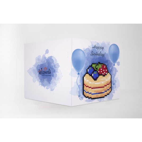 Broderie Diamant Kit- Bon anniversaire (gâteau)  WC0394 - Photo n°1