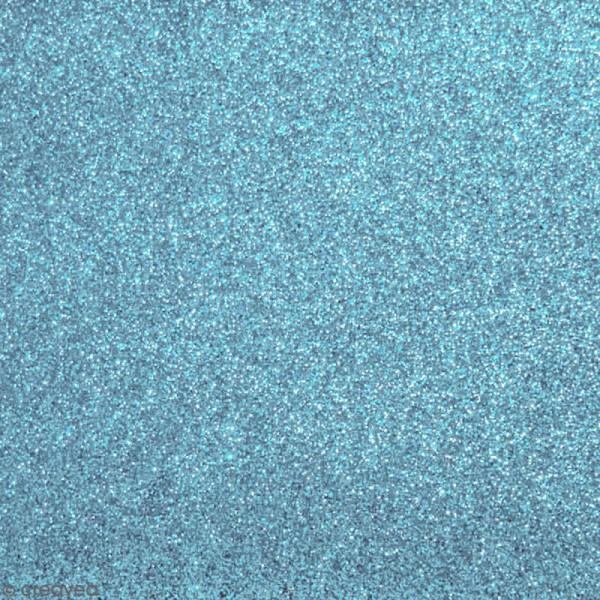 Tissu pailleté Bleu ciel - 66 x 45 cm - Photo n°1