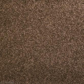 Tissu pailleté Marron cuivré - 70 x 45 cm