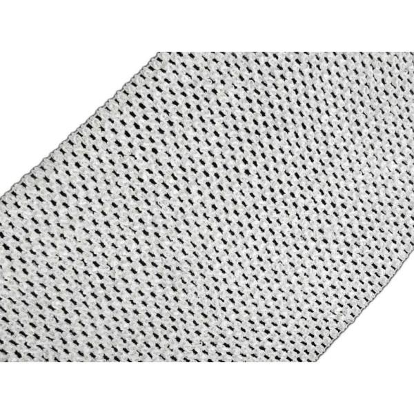 1m Blanc Mesh Élastique Largeur 24-25cm, d'Autres, Tricot, Mercerie, - Photo n°1