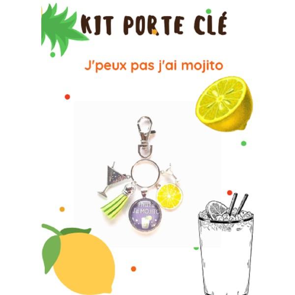 Un Kit Porte - Clé  J'Peux Pas J'ai Mojito - Photo n°1