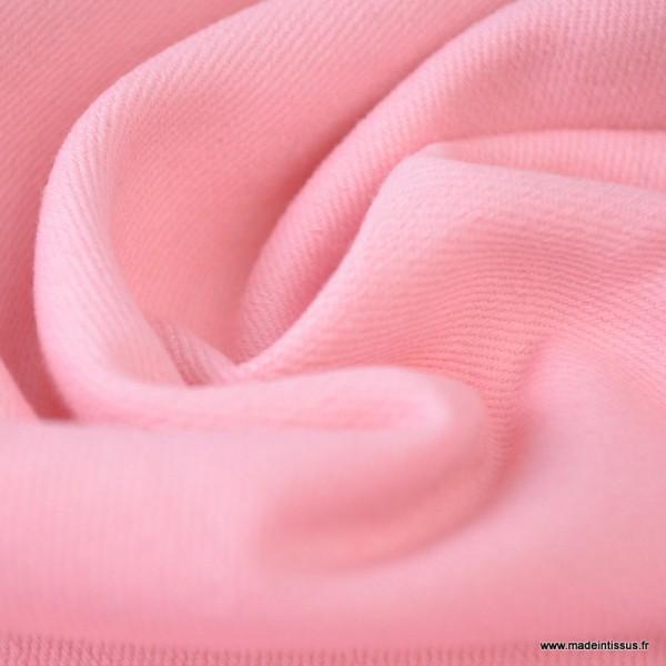 Tissu jean stretch coloris rose x1m - Photo n°2