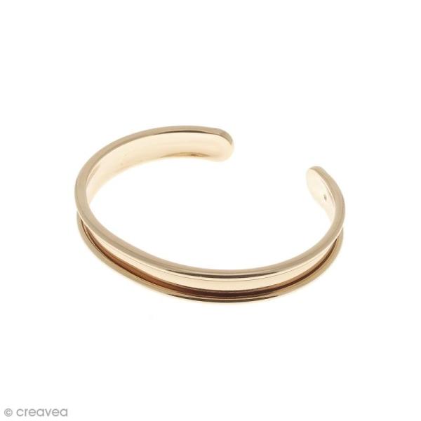 Bracelet en métal - Rose doré - 9,5 x 66 mm - Photo n°1