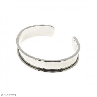 Bracelet en métal - Gris rhodium - 14,5 x 66 mm