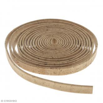 Cordon plat en liège Naturel - 10 mm - Au mètre (sur mesure)