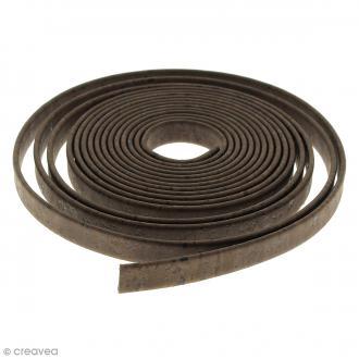 Cordon plat en liège Marron - 10 mm - Au mètre (sur mesure)