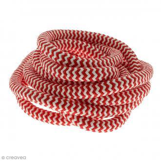 Corde d'escalade pour bijoux - Blanche et rouge - 10 mm x 3 mètres