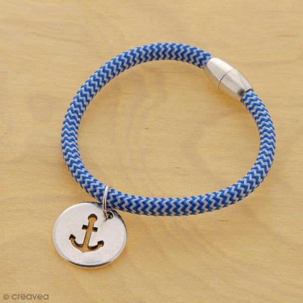 Cordon d'escalade pour bijoux - Bleu et blanc - 5 mm - Au mètre (sur mesure) - Photo n°3