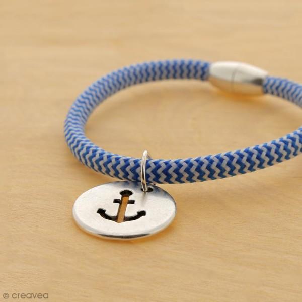 Cordon d'escalade pour bijoux - Bleu et blanc - 5 mm - Au mètre (sur mesure) - Photo n°4