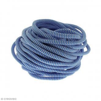 Cordon d'escalade pour bijoux - Bleu et blanc - 5 mm - Au mètre (sur mesure)