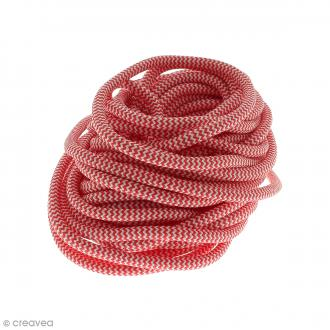 Cordon d'escalade pour bijoux - Rouge et blanc - 5 mm - Au mètre (sur mesure)