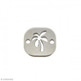 Breloque intercalaire Palmier en métal - 18 mm