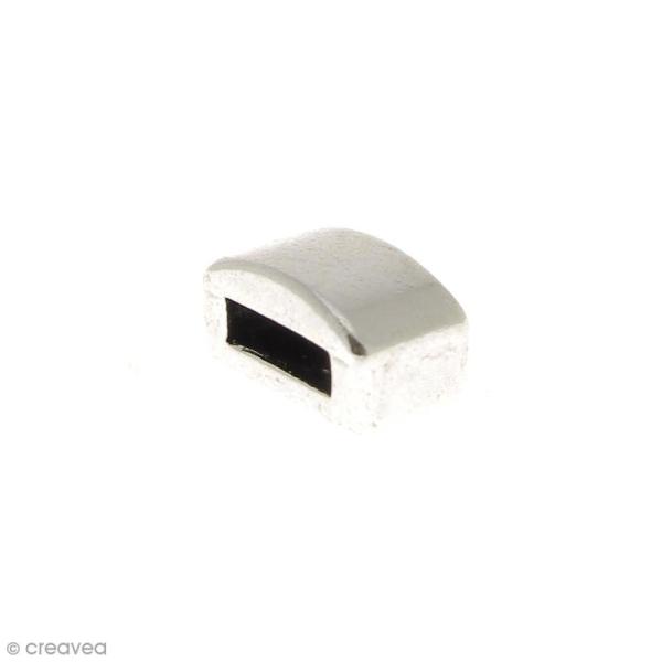 Passant Rectangulaire en métal - 10 mm - Ouverture de 2 x 6,4 mm - Photo n°2