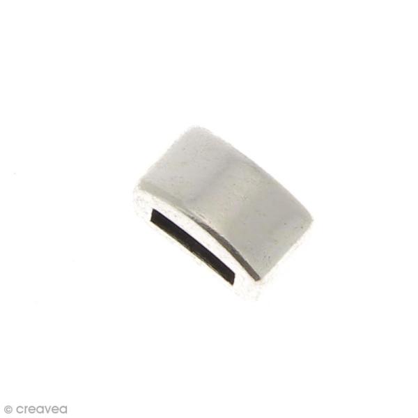 Passant Rectangulaire en métal - 10 mm - Ouverture de 2 x 6,4 mm - Photo n°1